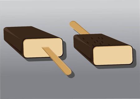 indulgência: Vetor de sorvetes Ilustração