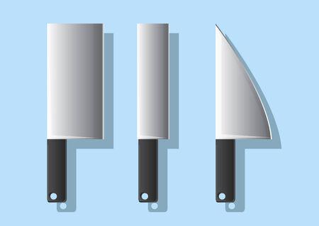 Vector of kitchen knives Çizim