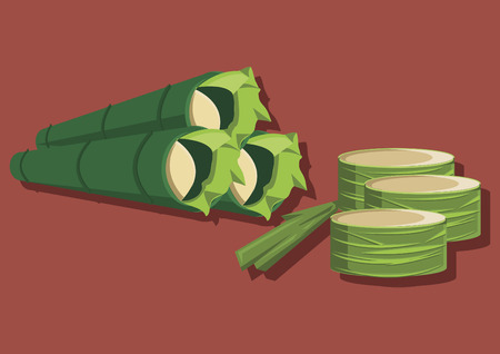 Vector of traditional food lemang
