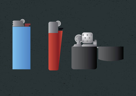 Vector of various lighters Vector