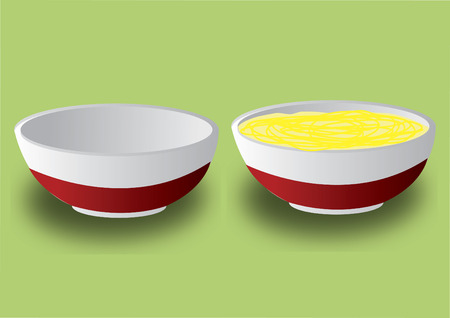Vector of bowl of soup