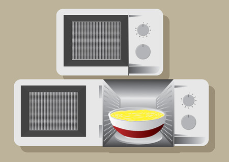 Vector of microwave oven Ilustrace