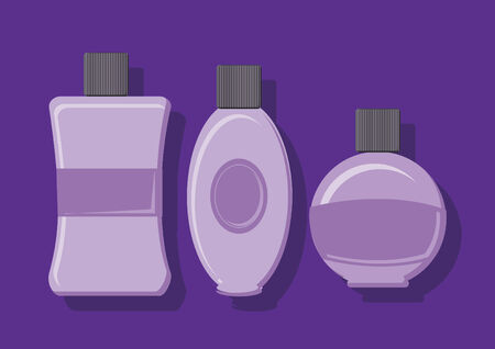 toiletry: Vector of soap containers