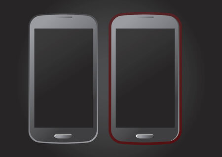Vector of smartphones