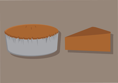 indulgence: Vector of a baked cake