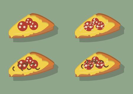 ピザのスライスのベクトル