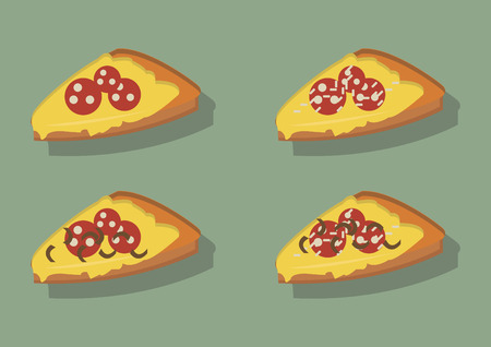 Vector of pizza slices