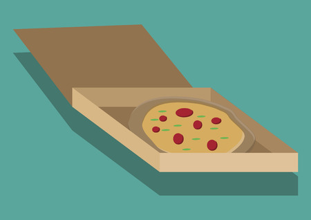 ボックスにピザのベクトル