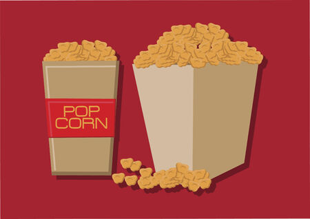Vector of box of popcorns