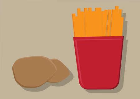 Vector de patatas fritas Foto de archivo - 31571800