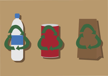 paperbag: Vector of recycle products