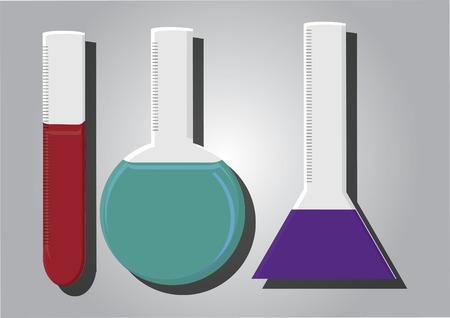 substances: Vector of flasks Illustration