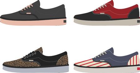 Vector of sneakers
