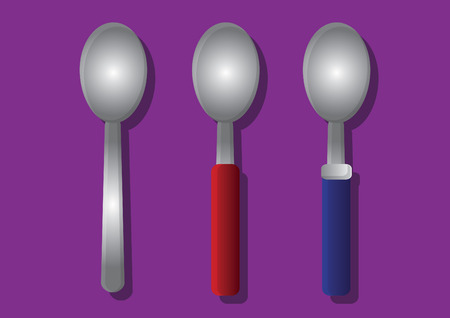 Vector of spoons