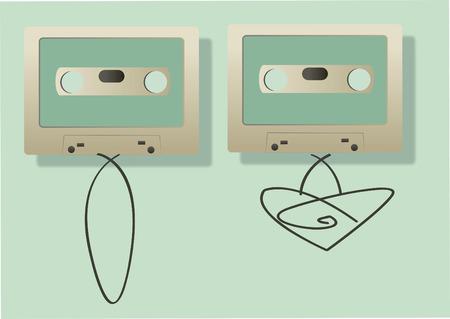 Vector of audio cassettes