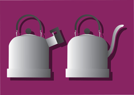 Vector of kettles Ilustrace