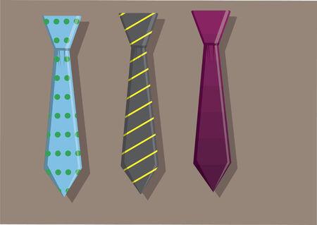 Vector of neck tie