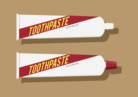 Vector of toothpastes