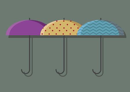 Vector of umbrellas