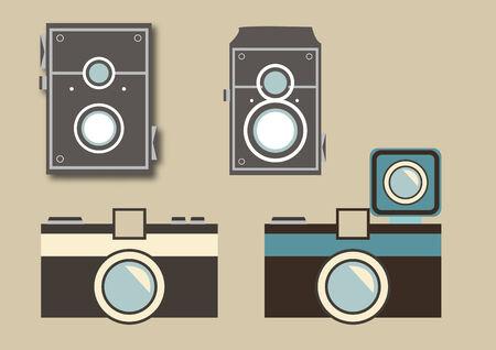 Vector of various cameras Çizim