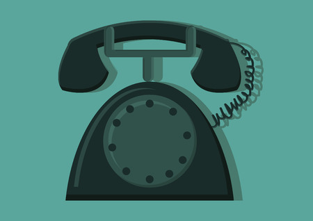call outs: Vector of a retro telephone
