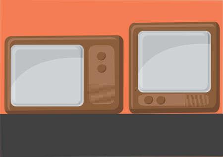 vintage television: Vector of vintage television set