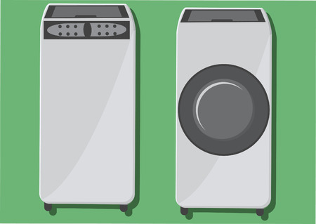 machines: Vector of washing machines Illustration
