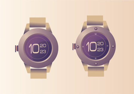 Vector of wrist watch