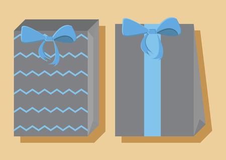 선물 가방 벡터