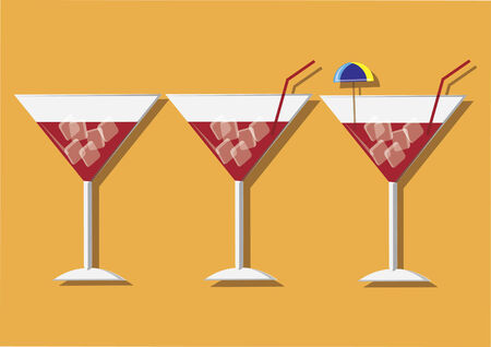 Vector of cocktails Ilustracja