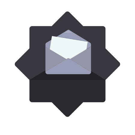 Illustration of an envelope and a letter