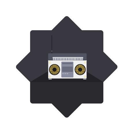 Illustratie van een radio
