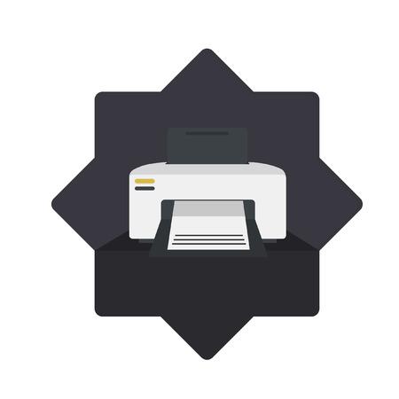 Illustration eines Druckers Standard-Bild - 31313775