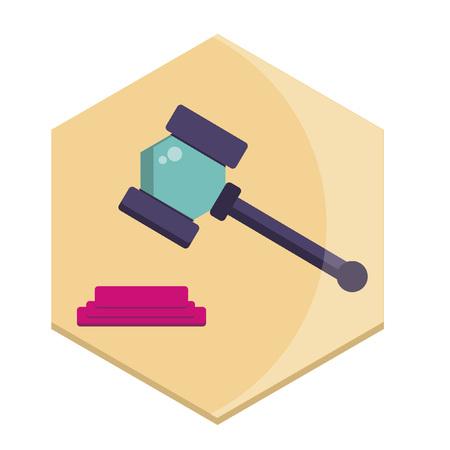 Illustration of a gavel Ilustrace