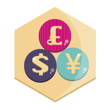 Illustration of currency signs Vector