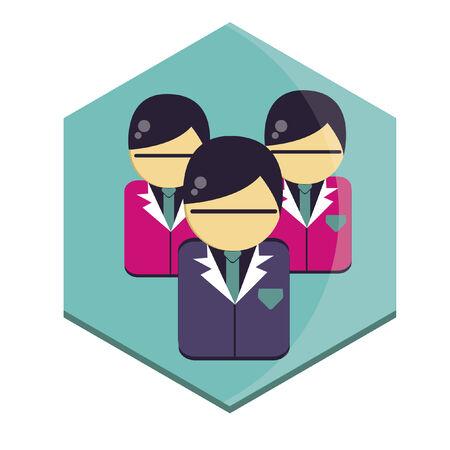 three men: Illustration of three men