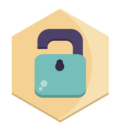 Illustration of a padlock