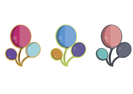 Illustration of balloons Vector