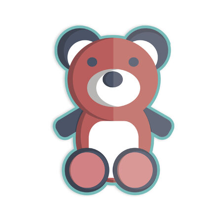 Illustration of a teddy bear Ilustração