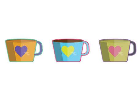 Illustration of three cups