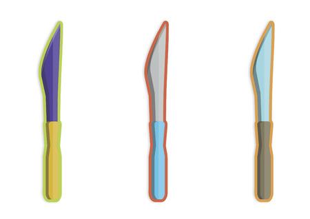 세 나이프의 그림
