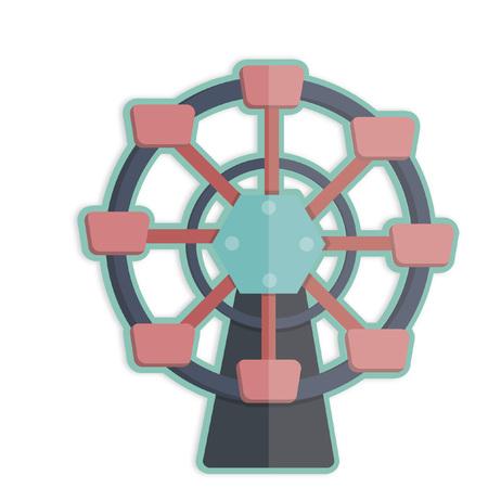 Illustration of a ferris wheel