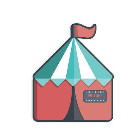 Illustratie van een circustent
