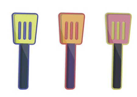 Illustration of three spatulas Illustration