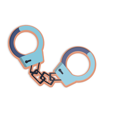 Illustration of a pair of handcuffs