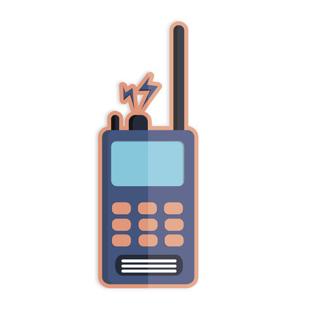 Illustration of a walkie talkie