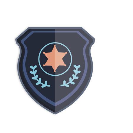 Illustration of a police badge