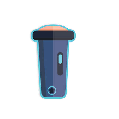 Illustration of a police electric torch