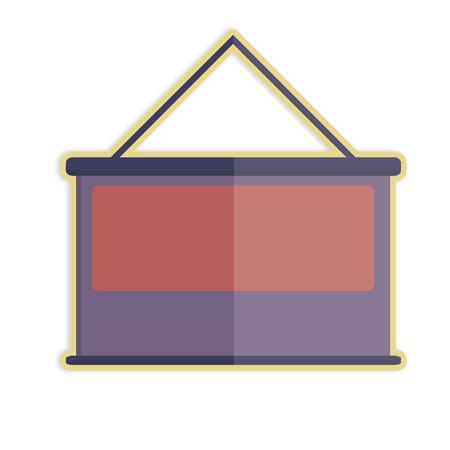 Illustratie van een projectiescherm Stock Illustratie
