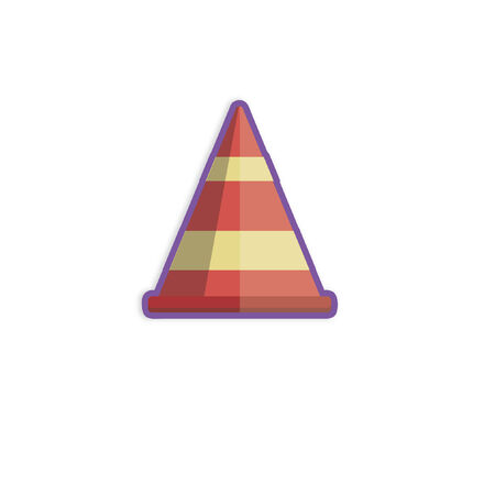 Illustration of a road cone Иллюстрация